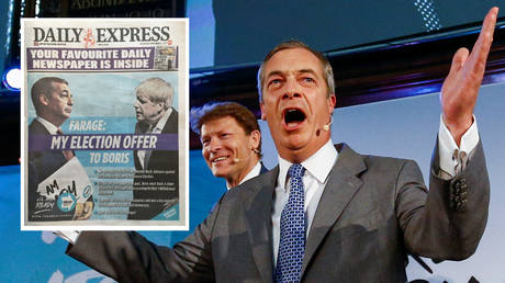 Farage offers Johnson 'clean-break Brexit' ELECTION PACT against 'Remain alliance'