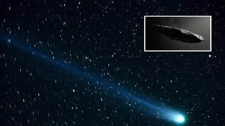 Illustration © skeeze from Pixabay; inset: Oumuamua © Reuters