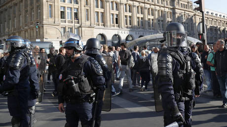 French riot police in Paris on September 21, 2019 © AFP / Zakaria ABDELKAFI