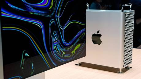 The new Mac Pro computer and Pro Display XDR are displayed during Apple's annual Worldwide Developers Conference in San Jose, California, US. June 3, 2019.