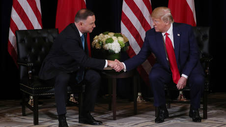 US President Donald Trump meets with Poland039;s President Andrzej Duda В© Reuters / Jonathan Ernst