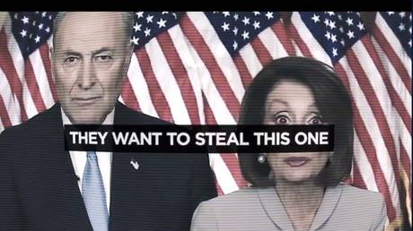 "President Donald Trump's campaign ad accusing Democrats of wanting to ""steal"" 2020 election"