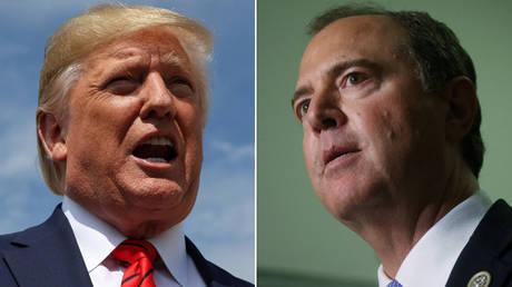 US President Donald Trump and Rep. Adam Schiff (D-California) ©  REUTERS/Jonathan Ernst;  REUTERS/Leah Millis