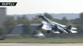 Russia's Su-57 fighter jet screams into the sky at MAKS Air Show (VIDEO)