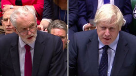 'Surrender bill' vs 'Trump's mercy': Johnson and Corbyn clash ahead of vote on no-deal Brexit