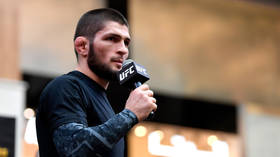 Khabib and Poirier face off for last time ahead of lightweight title showdown at UFC 242