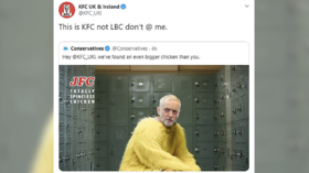 'Don't @ me': KFC bites back at Tories after Bojo's party uses them for Corbyn attack