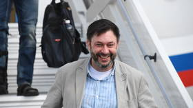 'I've never been that nervous': Russian journalist Vyshinsky speaks after landing in Moscow