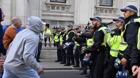 Scuffles as pro- and anti-Brexit protesters meet outside parliament (VIDEO)