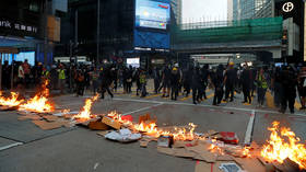 'Force is one of our methods' masked Hong Kong protesters reveal on VIDEO