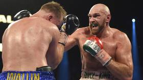 A cut above: Tyson Fury sliced open, but claims victory over Otto Wallin in Las Vegas