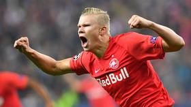 Erling Haaland: Teen ace bags first-half hat-trick on Champions League debut for Salzburg