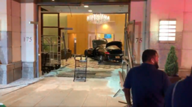 Man plows car into lobby of Trump building in upstate New York, then sits quietly on couch (VIDEOS)