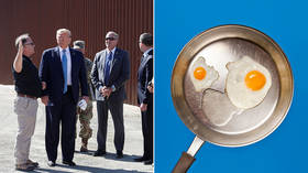 Keeps out migrants and... cooks breakfast? Trump says border wall is so hot you can 'fry an egg' on it