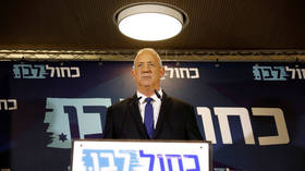 Benny Gantz, leader of Blue and White, delivers a statement before his party faction meeting in Tel Aviv, Israel September 19, 2019. © REUTERS/Amir Cohen