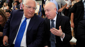 US envoy meets Israel's embattled PM to discuss Mideast peace plan