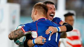 Who are the Russian team who nearly shocked hosts Japan in their Rugby World Cup opener?