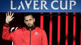 'I'd marry her right now': Nick Kyrgios thrown off-form by 'hot chick' in the crowd at Laver Cup (VIDEO)