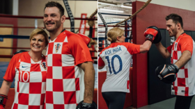 'She throws a mean left hook!' Croatian President Grabar-Kitarovic  spars with UFC heavyweight champ Stipe Miocic