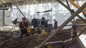 Construction workers run for their lives as collapse at Buenos Aires airport leaves 1 dead (VIDEO)