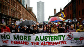 Protesters hold anti-austerity & anti-Brexit rallies in Manchester during Tory conference (VIDEO, PHOTO)