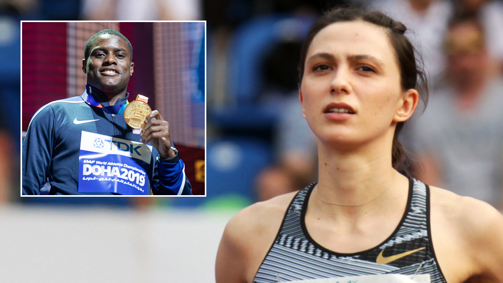 'Jaw-dropping': Russian world champ Lasitskene hits out after US star Coleman allowed to compete despite missed doping tests