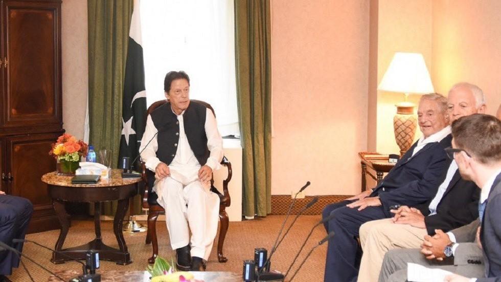 PM Khan branded 'Jewish agent' after meeting Soros as Islamist leader declares 'WAR' on govt