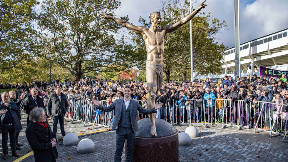'The Statue of Zlatan': Half-naked bronze effigy of Ibrahimovic unveiled in Sweden