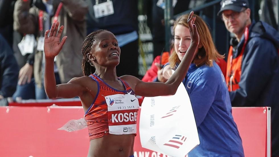 Kenya's Brigid Kosgei smashes 16-year women's marathon world record in Chicago