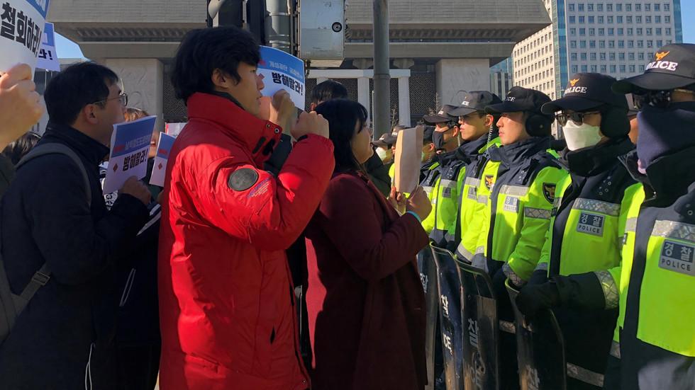 Pro-Pyongyang students break into US envoy's residence in S. Korean capital