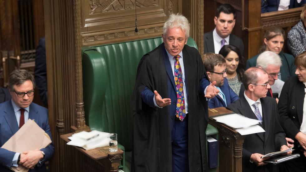 UK House Speaker Bercow blocks 'meaningful vote' on BoJo's Brexit deal