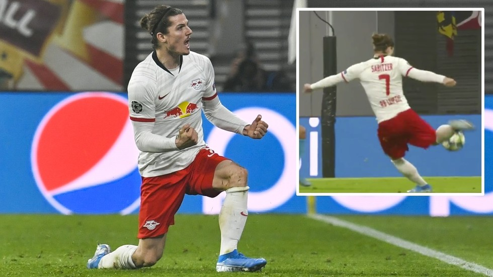 Goal of the season? Watch RB Leipzig's Marcel Sabitzer scores swerving stunner against Zenit in UEFA Champions League