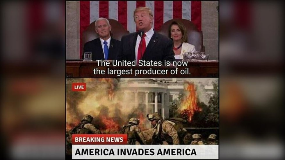 Trump channels 'America invades for oil' meme as he says