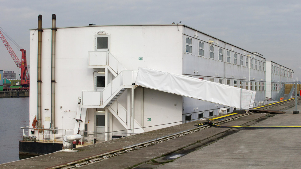 Belgium reopens notorious Dutch 'prison ship' as places for asylum seekers start to run out