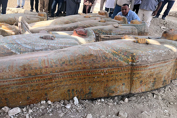 Twenty intact sarcophagi discovered in Egypt