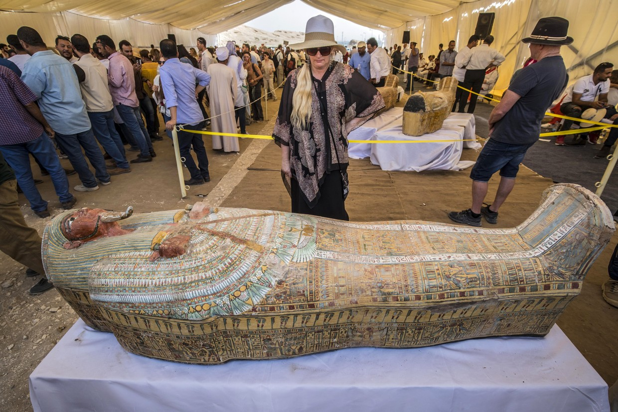 Archaeologists open ancient coffins discovered in Egypt""