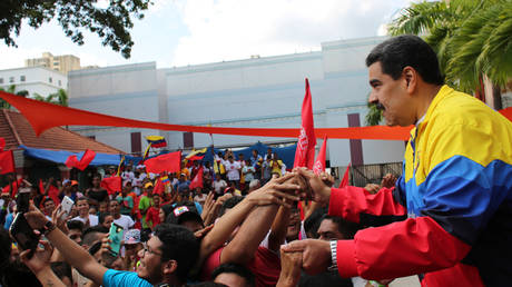 FILE PHOTO: Venezuela's President Nicolas Maduro attends a rally against US President Donald Trump in Caracas © Reuters