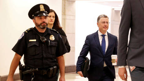 Kurt Volker arrives at the US Capitol for questioning © Reuters / Tom Brenner