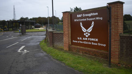 A general view of RAF Croughton. A motorcyclist, Harry Dunn, 19, was killed in a collision with a car on August 27 © Getty Images / Peter Summers