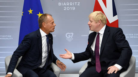 Britain039;s Prime Minister Boris Johnson meets European Union Council President Donald Tusk В© Reuters / Pool