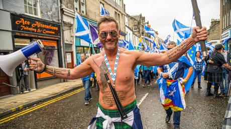 A Scottish indenendence demonstration. © Global Look Press