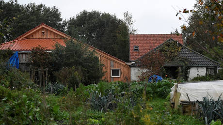 A view of a remote farm where a family spent years locked away in a cellar in Ruinerwold, Netherlands, October 15, 2019