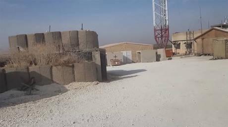 Abandoned US military base outside Manbij, Syria, October 15, 2019 © RT
