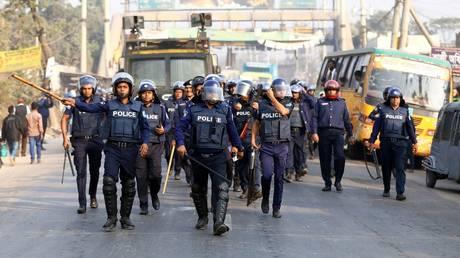 FILE PHOTO: Bangladesh police force. © Reuters / Mohammad Ponir Hossain
