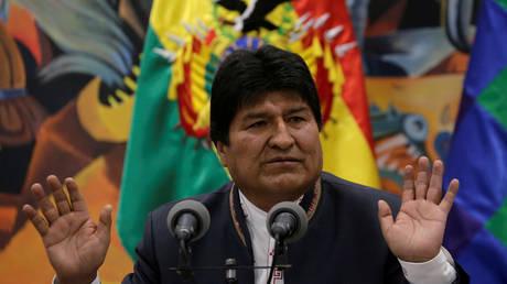 Bolivia's President Evo Morales at the presidential palace La Casa Grande del Pueblo in La Paz, Bolivia, October 24, 2019. © Reuters / David Mercado