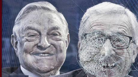 anti-Soros poster in Hungary © Global Look / Martin Fejer