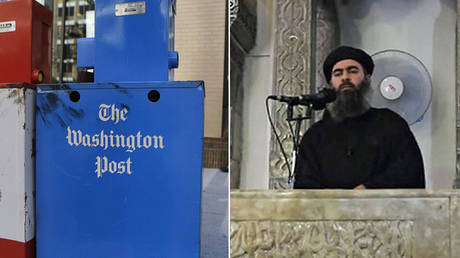(R) © Reuters / Stelios Varias ; (L) Isis leader Abu Bakr al-Baghdadi  © Global Look Press / Ropi
