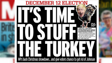 The Daily Mirror front page on Wednesday October 30. © Daily Mirror