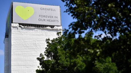 (FILE PHOTO) Grenfell Tower, west London © AFP / Ben Stansall