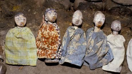 FILE PHOTO: African voodoo dolls.